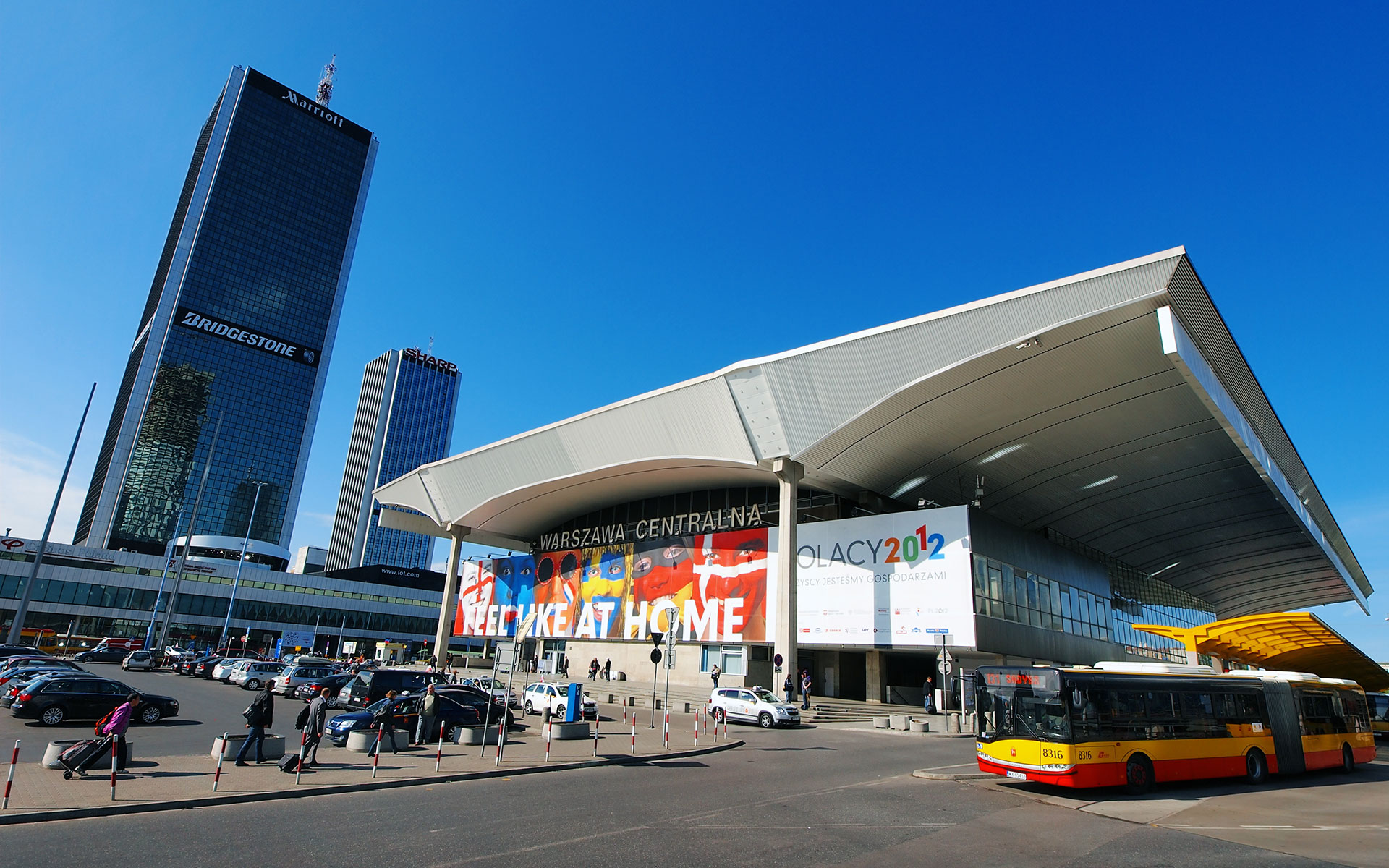Warsaw Centralna station - here during the UEFA European Championships 2012 (photo © Karol Kozlowski).