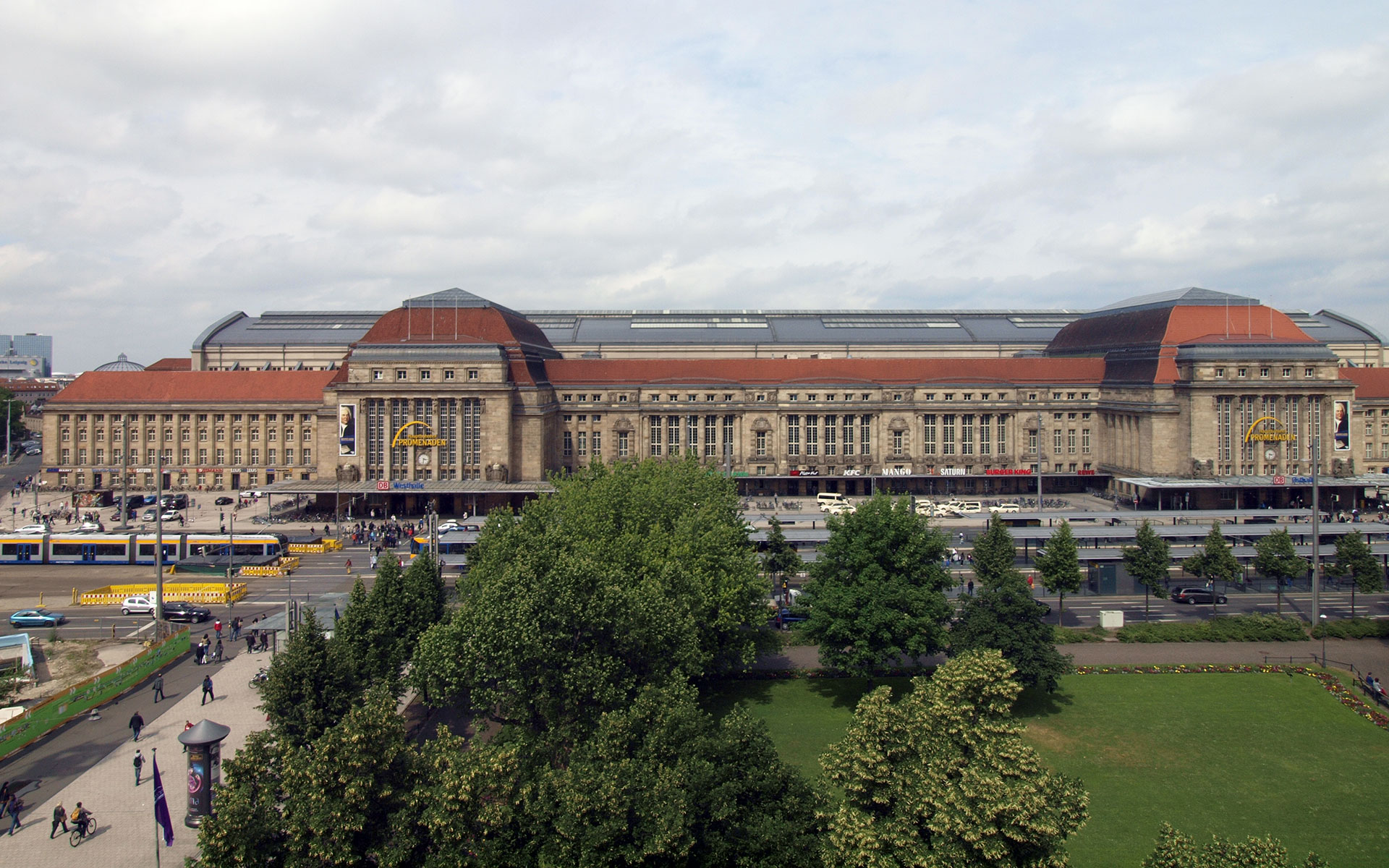 Leipzig's main station - as much a rail hub for the region today as it was in DDR times (photo © hidden europe).