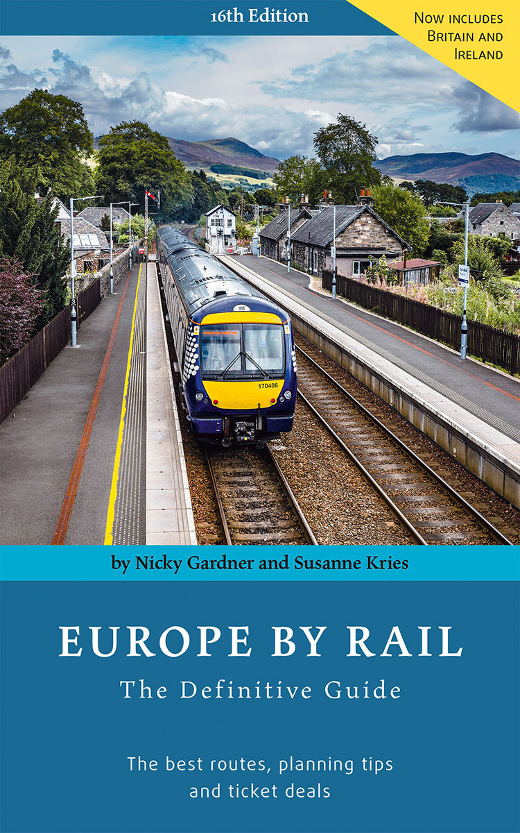 16th edition of Europe by Rail published in October 2019