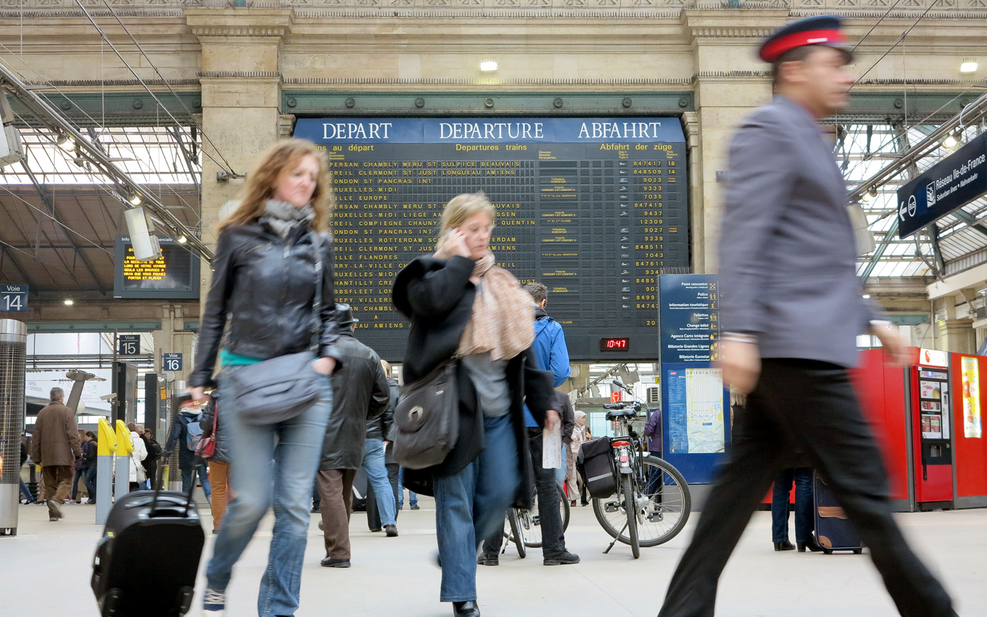 Paris Gare du Nord is the busiest railway station on the European mainland. It is the arrival point for Eurostar services from London (photo © Viorel Dudau / dreamstime.com).