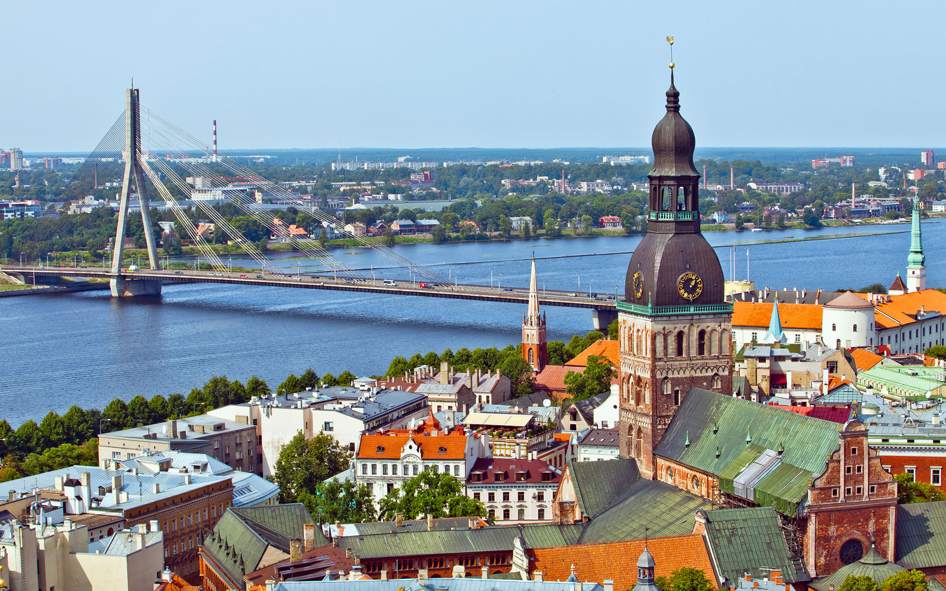 Riga (pictured here) will no longer have a regular direct ferry link with Stockholm (photo © Alexander Tolstykh / dreamstime . com)